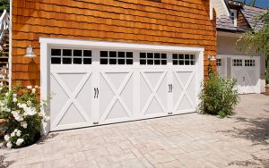 White multi panel clopay garage door