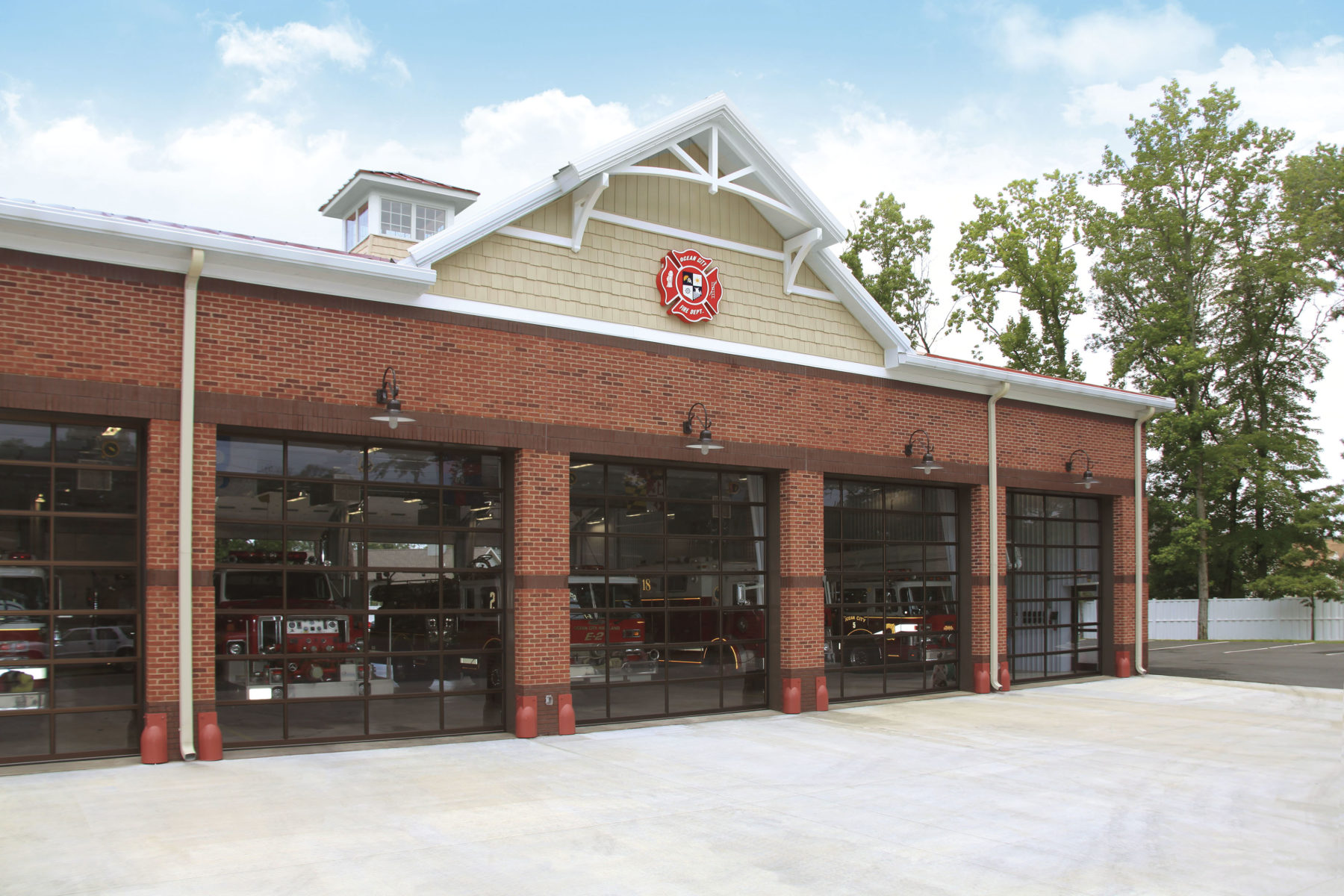 Clopay Commercial Garage Doors On A Fire Station