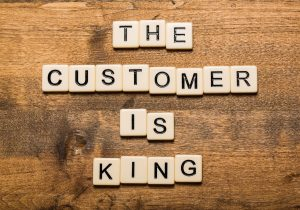 "Picture of blocks spelling ""The Customer is King"" at Affordable Garage Door"