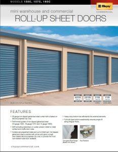 Commercial Garage Door - Roll Up Sheet Doors