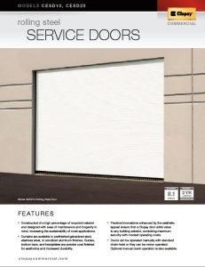 Rolling Steel Service Door Brochure