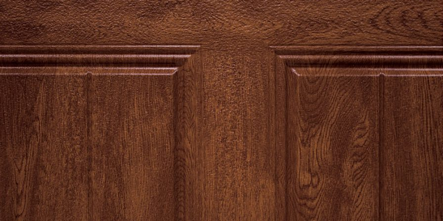 wooden look detail to garage door if looking for a high rated garage door company for installation in St. John
