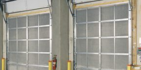 inside view of garage doors when looking for garage door company that handles repairs in crete