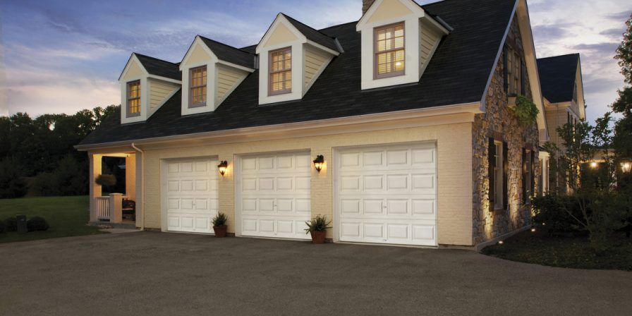 house with attached three car garage concept for reliable garage door replacement company in lowell