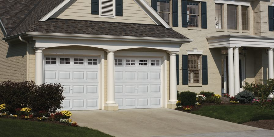 house with attached garage image for reliable skilled installers look to lake county garage door company