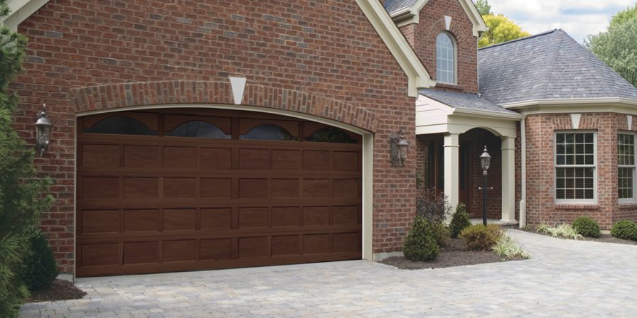 image of front of home with new garage door if looking for a reputable garage door installation company in nw indiana contact us