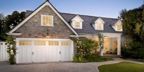 home with unique garage door for shopping for a new garage door company in schneider
