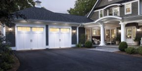 driveway to garage concept for garage door service company in shelby