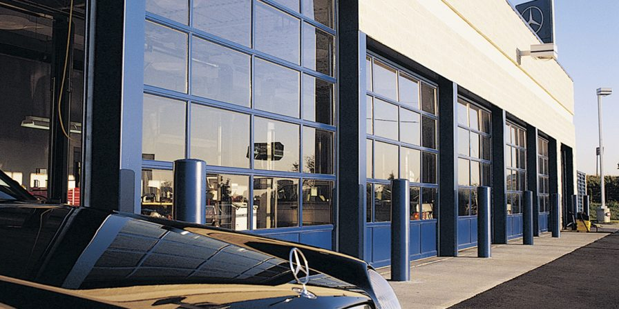car dealership garage door image for latest design options with commercial garage doors call merrillville garage door business