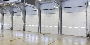 inside business garage for skilled garage door installers in crown point