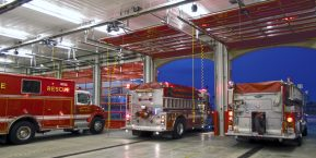 inside a fire station garage for your business garage door security contact st john garage door company with professional installers