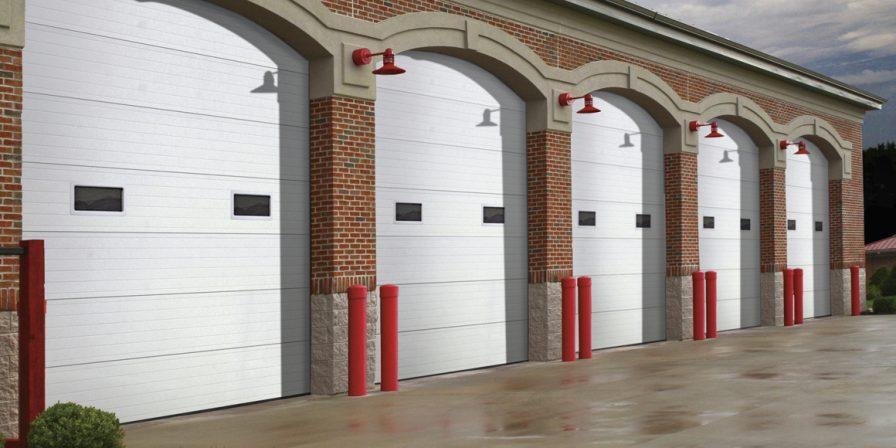 row of garage doors for reputable garage door company in dyer