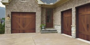driveway to garages concept for Kouts garage door company with good reviews