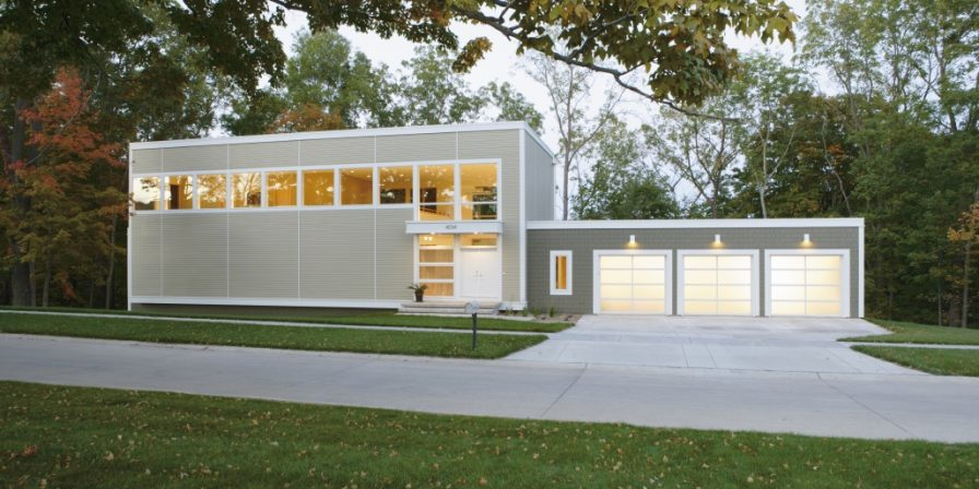 house with three car garage if needing the best garage company with skilled installers in Beecher, IL