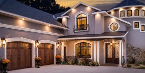 home with detailed garage doors image for skilled garage door installers in schneider