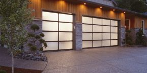 frosted garage door if looking for help with your garage door design contact a skilled garage door company in Lake county