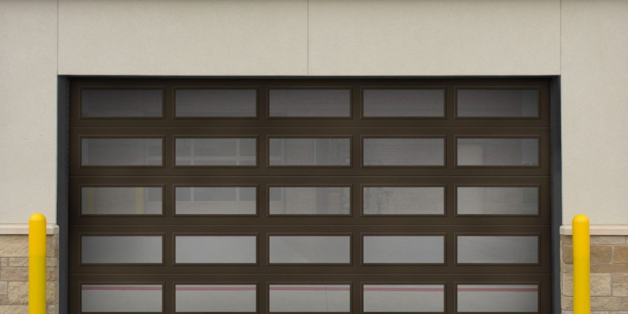 single door front image for experienced garage door business in lakes of the four seasons.