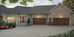 expansive four door garage if needing custom garage doors look for skilled garage door company in Crete