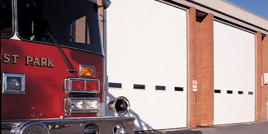 fire station image for garage door repair company in peotone