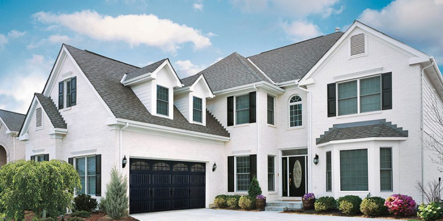 black garage door for reputable garage door installer in Peotone