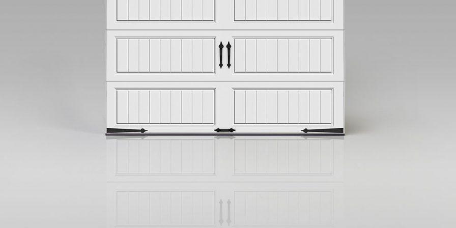 white garage door with window if needing a garage door spring repair from a Monee garage door company