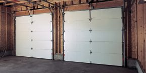 inside view of garage doors if needing garage door repair from skilled workers in Monee