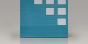 garage door front in blue concept for needing a new garage door with northwest indiana garage door company