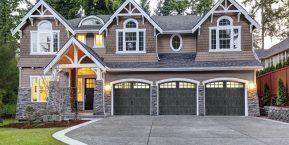 elegant home front with three car garage if needing ideas for a new garage door trust in Merrillville garage door company